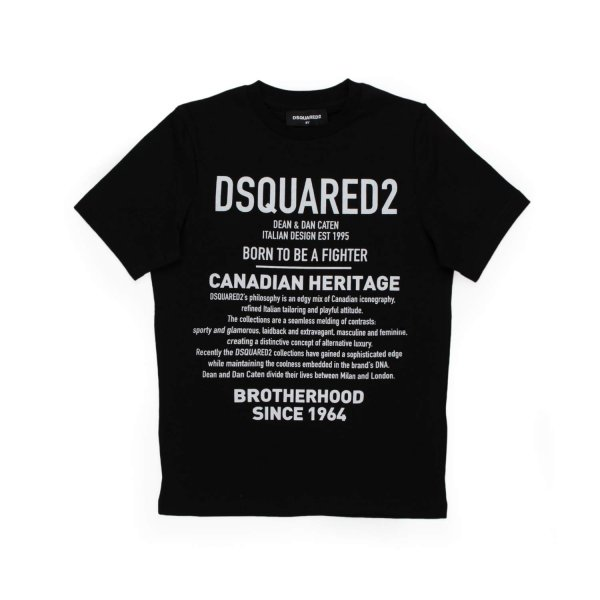 Dsquared2 - TEEN GIRL BLACK T-SHIRT