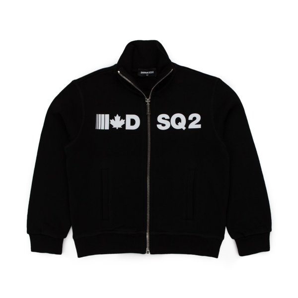 Dsquared2 - BLACK ZIP SWEATSHIRT FOR BOYS