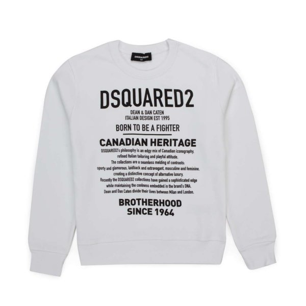 Dsquared2 - WHITE PRINTED SWEATSHIRT FOR BOY