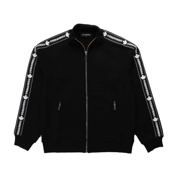 Dsquared2 - BLACK ZIP UP SWEATSHIRT FOR BOY
