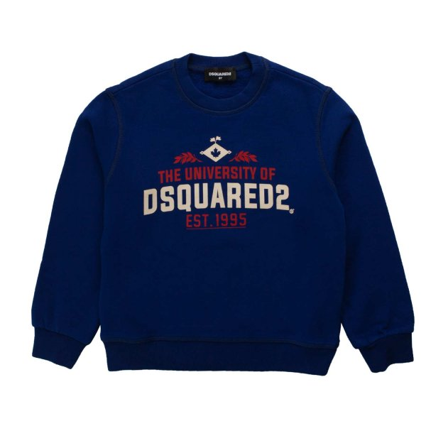 Dsquared2 - BOY LOGO BLUE SWEATSHIRT
