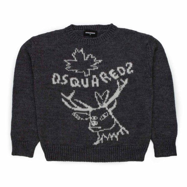 Dsquared2 - UNISEX LOGO GREY SWEATER