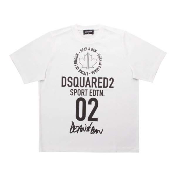 Dsquared2 - UNISEX PRINTED WHITE T-SHIRT