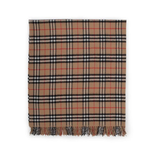 Burberry - UNISEX WOOL CHECK BLANKET