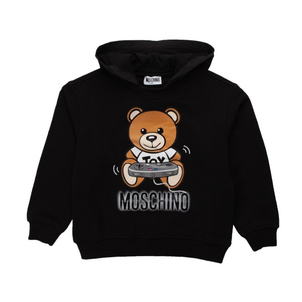Moschino - BLACK HOODIE FOR BOY AND GIRL