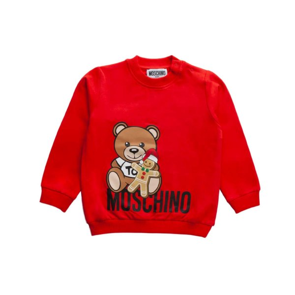 Moschino - BABY BOY RED TEDDY BEAR SWEATSHIRT