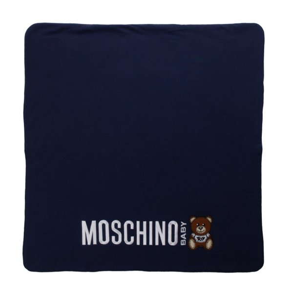 Moschino - TEDDY BEAR BLUE BLANKET FOR BABY