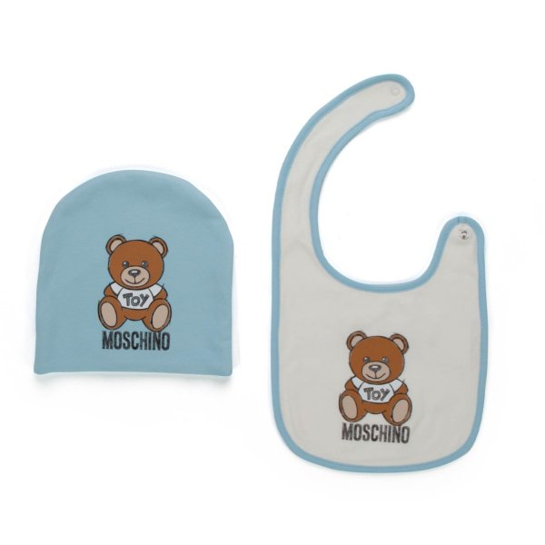 Moschino - BIB AND HAT SET FOR BABY BOY
