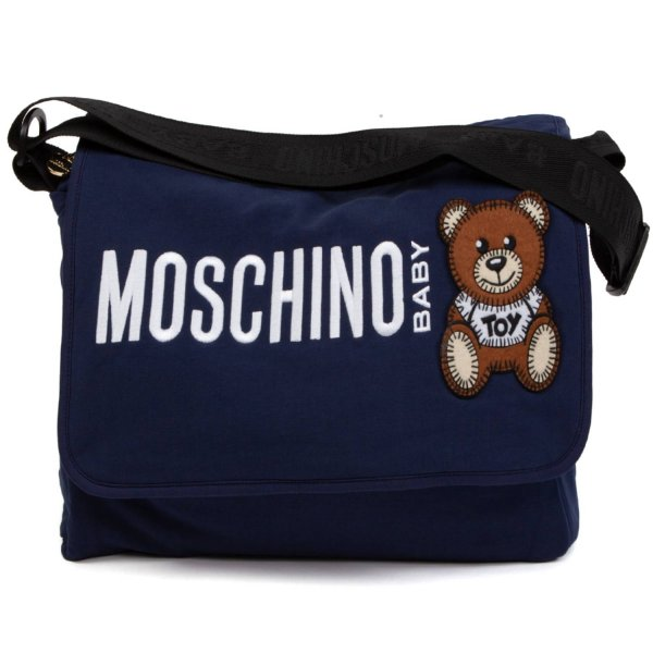 Moschino - UNISEX BLUE MOMMY BAG WITH LOGO