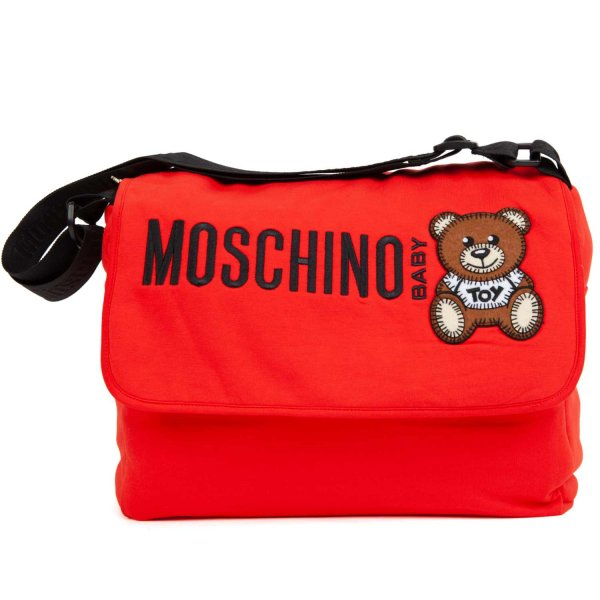 Moschino - MOMMY BAG WITH LOGO AND TEDDY BEAR