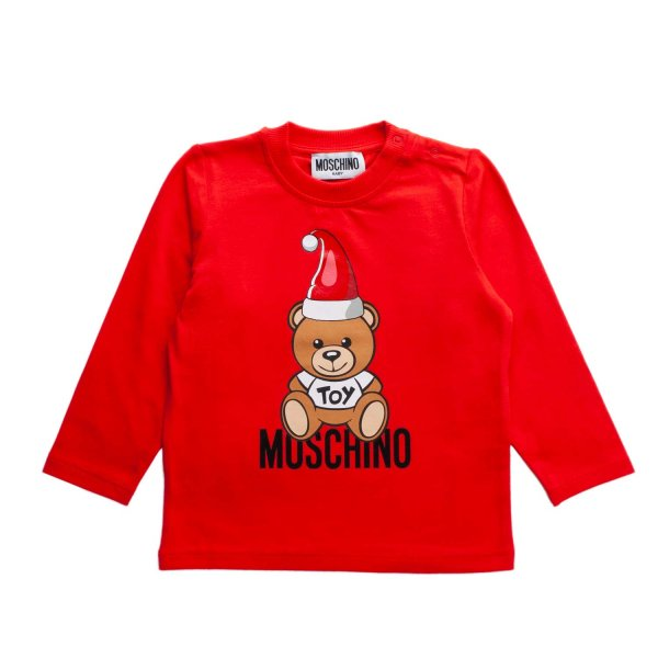 Moschino - BABY TEDDY BEAR RED T-SHIRT