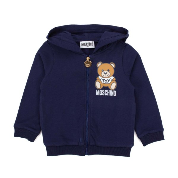 Moschino - BLUE ZIP UP HOODIE FOR BABY