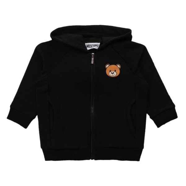 Moschino - BABY BLACK ZIP UP HOODIE