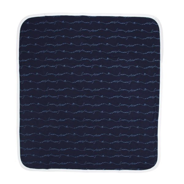 Armani Junior - UNISEX BLUE BABY BLANKET