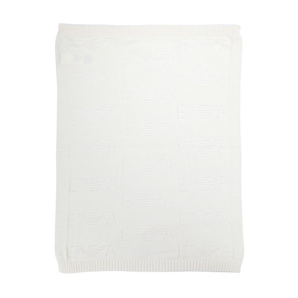 Armani Junior - WHITE COTTON BLANKET
