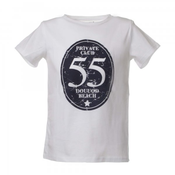 Douuod - T-shirt bianca con stampa Le Club 55