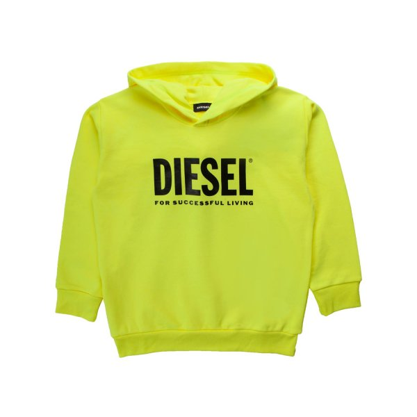 Diesel - FLUO YELLOW HOODIE FOR BOYS