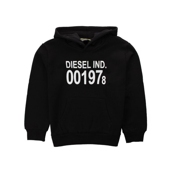 Diesel - BOY AND GIRL BLACK HOODIE