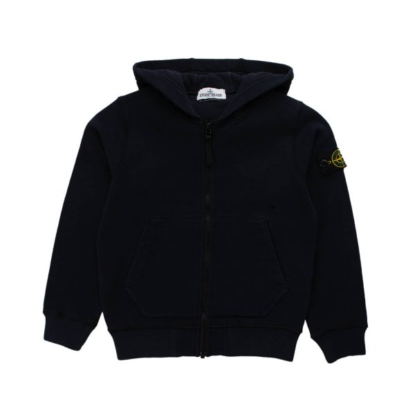 Stone Island - BLUE ZIP UP HOODIE FOR TEEN BOY