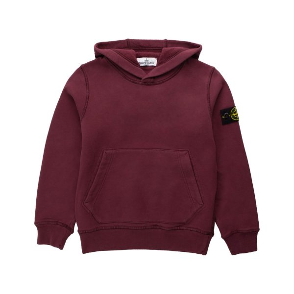 Stone Island - BOY WINE COLOURED HOODIE
