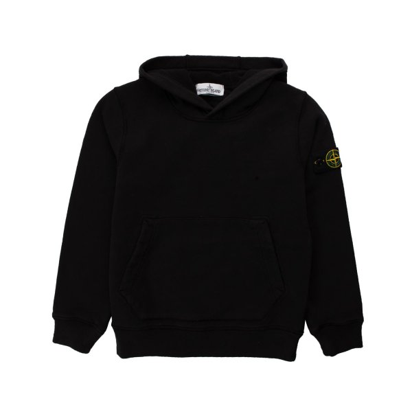 Stone Island - BLACK HOODIE FOR TEEN BOY