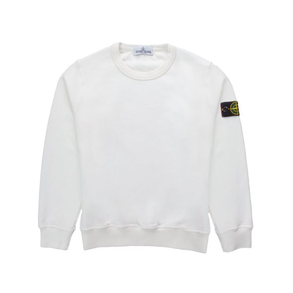 Stone Island - WHITE COTTON SWEATSHIRT