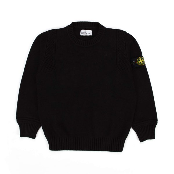 Stone Island - BLACK PULLOVER FOR TEEN AND BOY