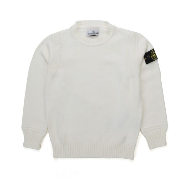 Stone Island - WHITE PULLOVER FOR BOY