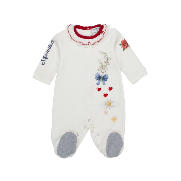 Monnalisa - COTTON ROMPERS FOR BABY