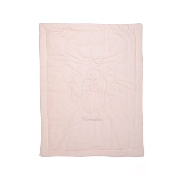 Monnalisa - BABY GIRL PINK COTTON BLANKET