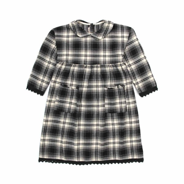 Babe & Tess - CHECK COTTON DRESS FOR LITTLE GIRL