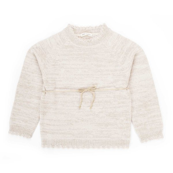 Babe & Tess - BEIGE PULLOVER FOR LITTLE GIRL