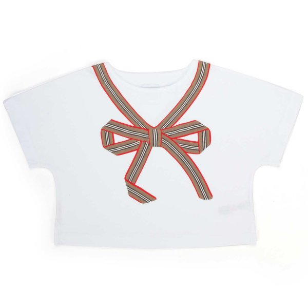 Burberry - T-SHIRT CROPPED TEENAGER BAMBINA
