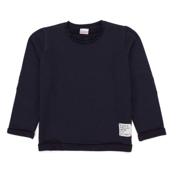 Officina51 - BLUE COTTON SWEATSHIRT FOR BABY BOY
