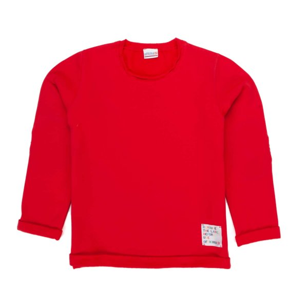 Officina51 - RED SWEATSHIRT FOR BABY BOY