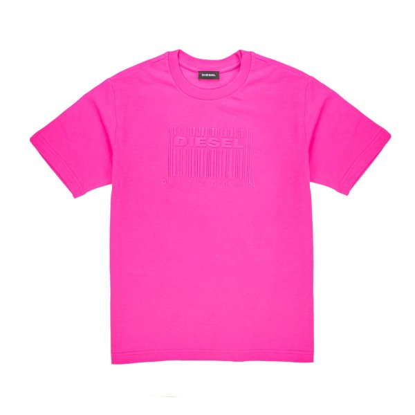 Diesel - LOGO FUCSIA T-SHIRT FOR GIRL