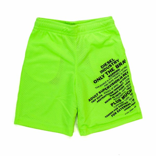 Diesel - FLUO GREEN SHORTS FOR BOY
