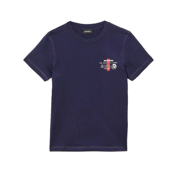 Diesel - BLUE COTTON T-SHIRT FOR BOY AND TEEN