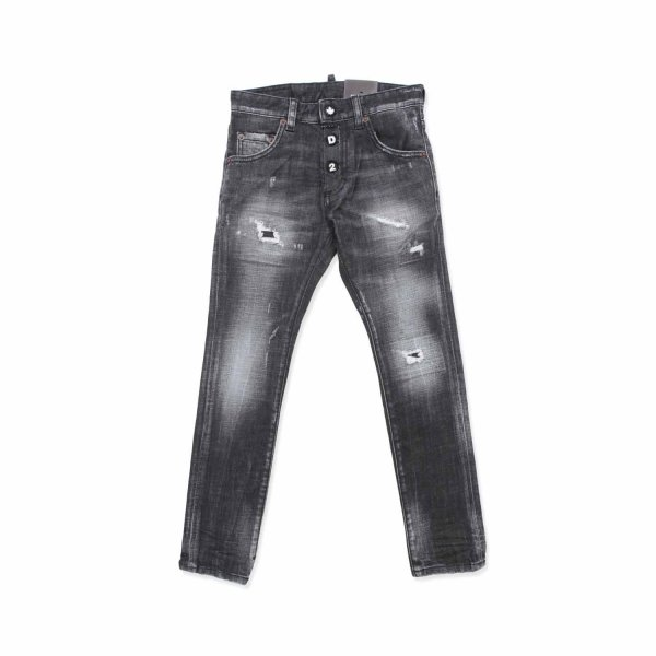 Dsquared2 - BOY BLACK DISTRESSED JEANS
