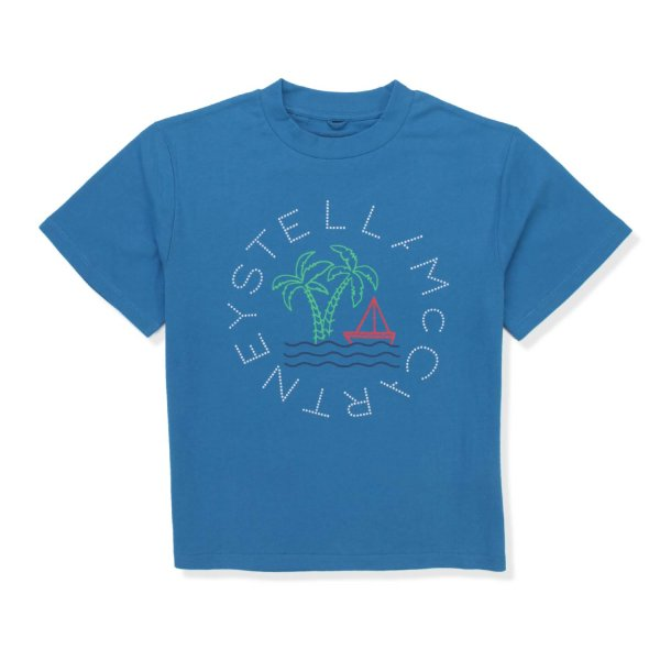 Stella Mccartney - UNISEX LIGHT BLUE T-SHIRT