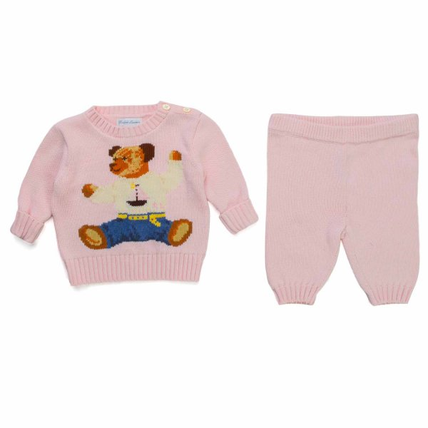 Ralph Lauren - PINK COTTON OUTIFIT FOR BABY GIRL