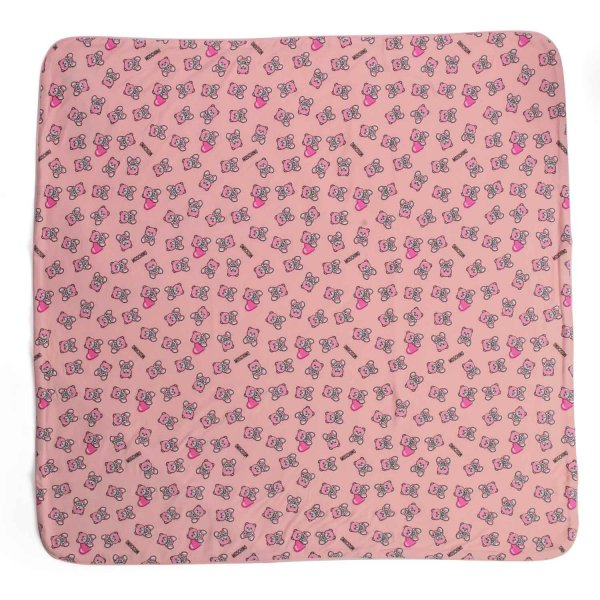 Moschino - BABY GIRLS PINK COTTON BLANKET