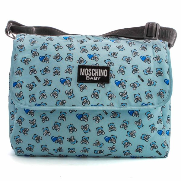 Moschino - LIGHT BLUE MOMMY BAG WITH LOGO