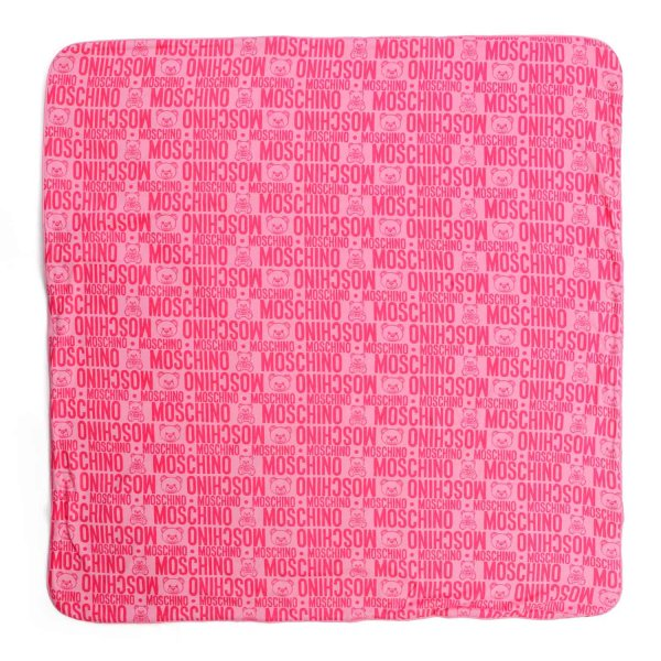 Moschino - PINK LOGO BLANKET FOR BABY