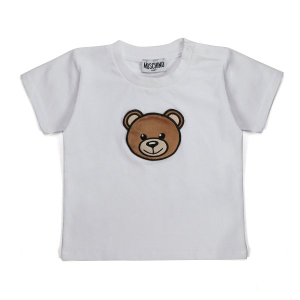 Moschino - T-SHIRT BIANCA CON ORSETTO BABY