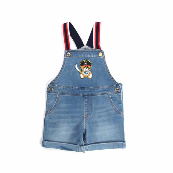 Moschino - DENIM DUNGAREES FOR BABY