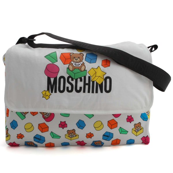 Moschino - LOGO PRINT MOMMY BAG 01