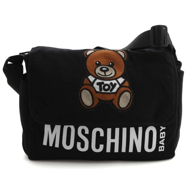 Moschino - BLACK MOMMY BAG WITH TEDDY BEAR