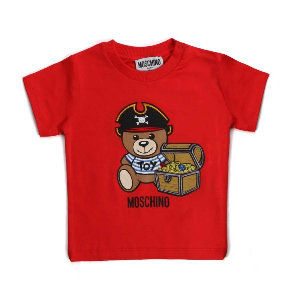 Moschino - TEDDY BEAR RED T-SHIRT FOR BABY