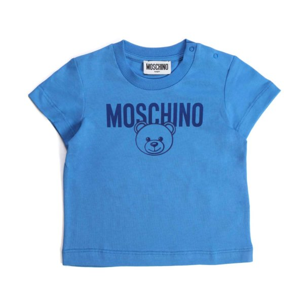 Moschino - TEDDY BEAR LIGHT BLUE T-SHIRT FOR BABY